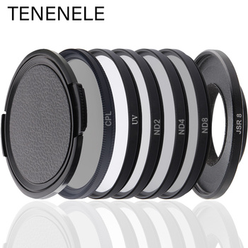 TENENELE For Sjcam SJ8 Action Camera Filter CPL/ND 2 4 8/UV Protect Filters For SJCAM SJ8 Air/Plus/Pro Sport Camera Accessories