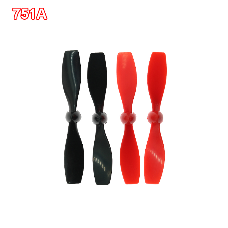 2 Pairs 75mm CW CCW Propeller for 716 1mm/2mm Shaft Coreless Motor for DIY Toy RC Airplane Model image