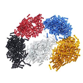 50 sztuk końcówka kabla rowerowego czapki rowerowe zaślepki hamulca przerzutka Shifter końcówki kablowe Crimps MTB Bike akcesoria rowerowe tanie i dobre opinie CN (pochodzenie) cap137 533 Silver Blue Black Red Gold Green etc 50PCS Cable End Caps