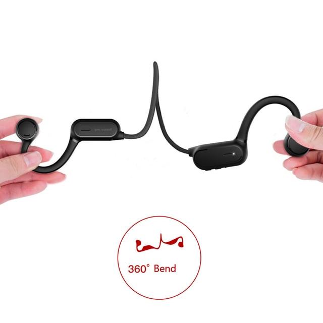 5.0 Sports Bone Conduction Headphone Waterproof Running Earphone Cycling Headset Wireless Stereo Headset 2