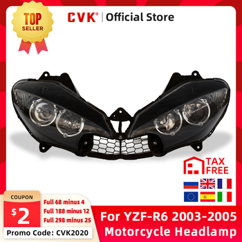 цена на CVK Motorcycle Headlight Headlamp Head Light For YAMAHA YZF 600 R6 2003 2004 2005 YZF-R6 03 04 05 Head Lamp Headlight assembly