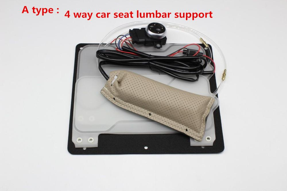 car seat covers inflatable Pneumatic Lumbar back Support 4 airbag cushion massage four way switch for car styling gps jeep etc