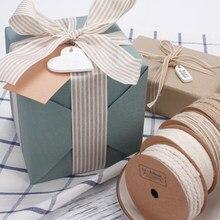 Natural Juta Serapilheira Do Vintage Fita Cinto de Embalagem de Presente DIY Artesanato Decoração Do Partido Do Casamento Do Natal Fita Floricultura 9M/Roll