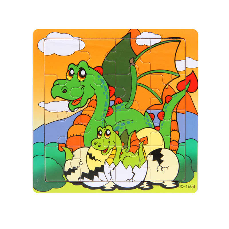 Деревянная мозаика, анимированная динозавр мама и динозавр яйца игрушки развивающие, Обучающие Детские Обучающие Животные головоломки MP147