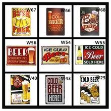Металлические жестяные знаки для холодного пива без льда мужская