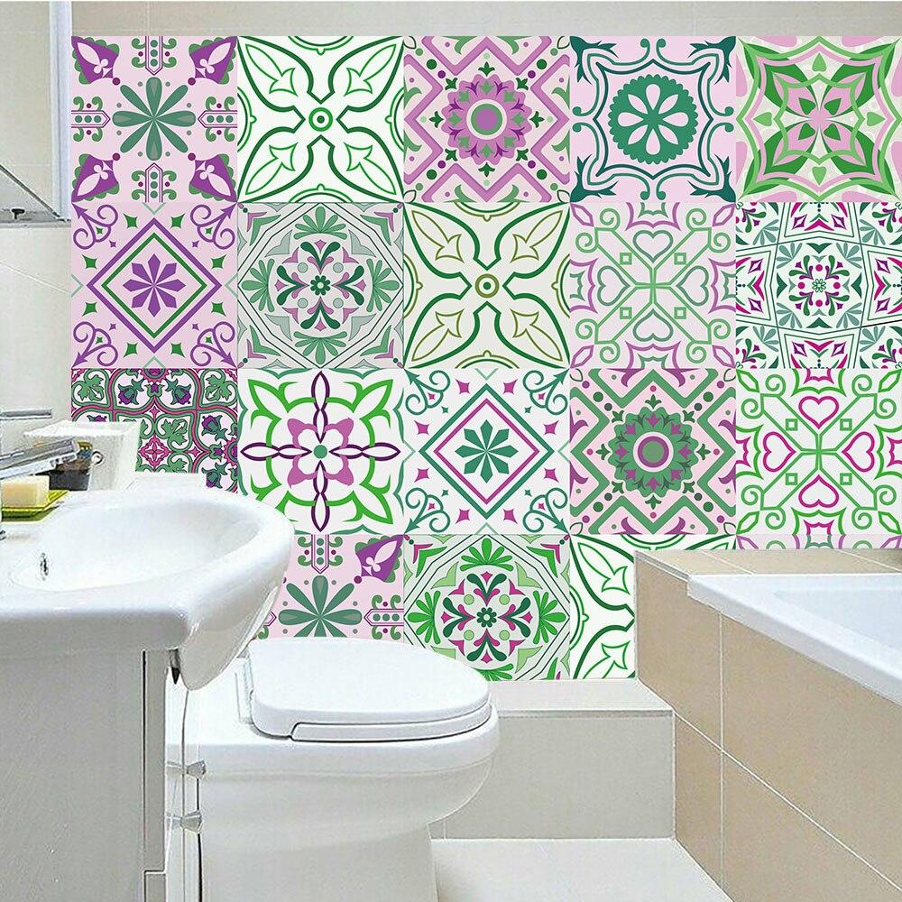 Fresh Style Simulation Strip font b Tiles b font Wall Sticker Bathroom Kitchen Door Table Decoration