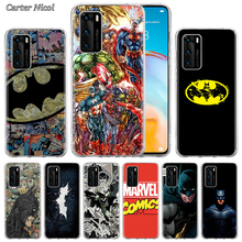 Marvel Comic Batman Silicone Case for Huawei P40 Pro+ P20 P30 Lite P20 Pro p10 p20 p30 P40 Lite P Smart Pro 2019 Cover silicone cases for huawei p40 pro armor case for huawei p40 p30 p20 p10 for p30 p20 10 lite p30 pro p20 p10 plus hard sell cases