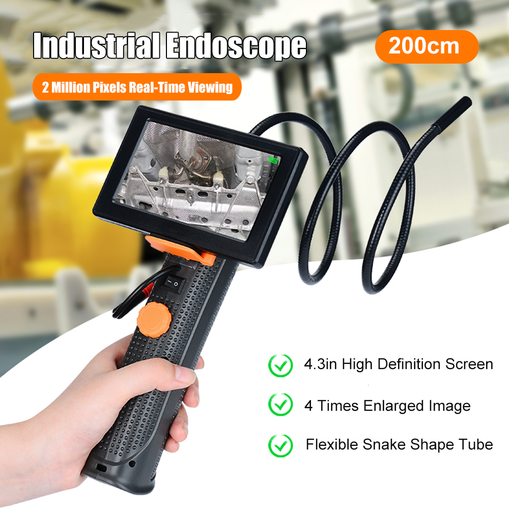 Professional 4.3in High Definition Waterproof Endoscope Micro-Inspection Camera Maintenance Tool With Snake Shape Tube