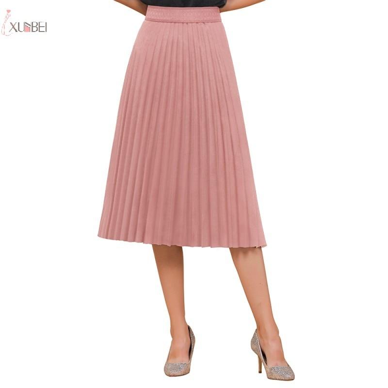 Pink Short Petticoat Half Slips A Line High Waist Pleated Knee Length Skirt Woman Underskirt Wedding Accessories 2020