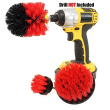 3pcs/Set Power Scrubber Brush Electric Drill Clean for Bathroom Surfaces Tub Shower Tile Grout Cordless Cleaning Kit