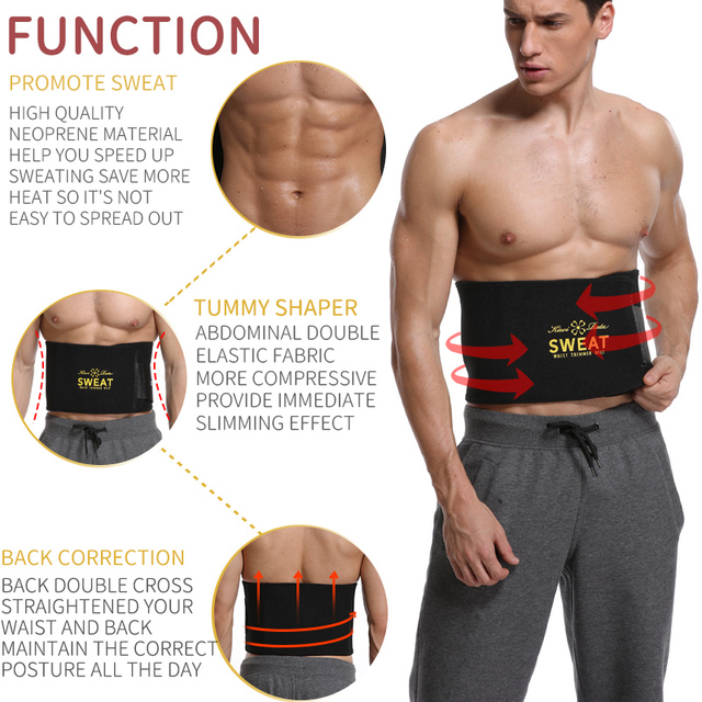Men Waist Trainer Belly Shapers Abdominal Promote Sweat Body Shaper Slimming Belt Weight Loss Shapewear Trimmer Girdle Shapewear 1