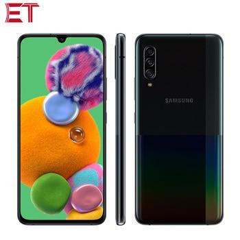 Перейти на Алиэкспресс и купить Новый список Samsung Galaxy A90 A9080 5G мобильный телефон 8 ГБ 128 Snapdragon855 OctaCore 6,7 дюйм1080x2400 48MP NFC Android9.0 телефон 5G