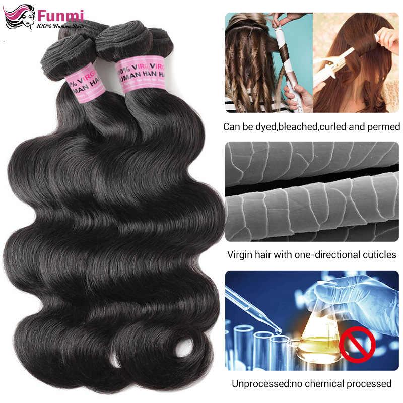 Волнистые человеческие волосы, пучки бразильских волос, волнистые волосы для тела, пучки человеческих волос для чернокожих женщин, Non-Remy 1/3/4 Лот