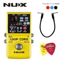 NUX 루프 코어, 기타 이펙트 페달, 루퍼, 6 시간 녹음 시간, 99 사용자 메모리, 선물용 탭 템포가있는 드럼 패턴