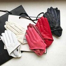 Солнцезащитные перчатки женские одиночные натуральные кожаные