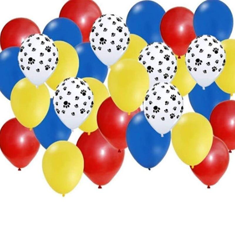 Lote de 30 Uds de 2,3g de Globos de látex con pata de perro para mascotas, decoración para temática de fiesta de animales, juguetes clásicos para niños, Globos de helio de aire, suministros de bolas inflables