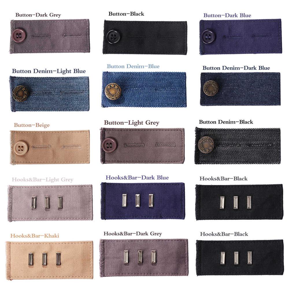 1 adet Unisex pantolon genişletici kemer bel bandı sıkı pantolon kot etek düğme kanca annelik bel genişletici konfeksiyon aksesuarları