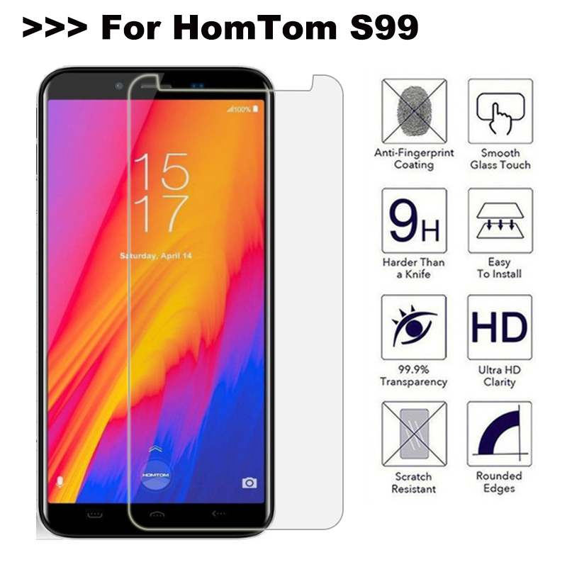 Glass Homtom S99 Screen Protector Tempered Glass For Homtom S99 Glass 9H 2.5D Explosion-proof Anti-scratch Phone Film(China)