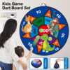 Children Dart Board Game Throw Ball Dartboard Durable Wall-mounted Sticky Ball Indoor Play Toy Dart Board Set Fun Family Game