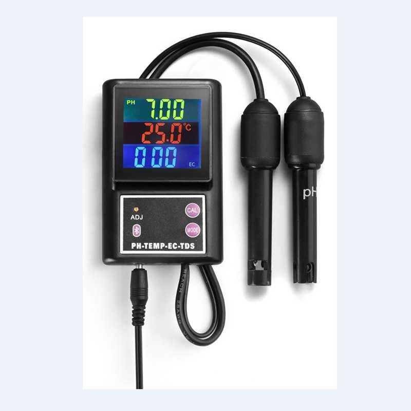 PH-260 многопараметрический монитор качества воды, Bluetooth, ЖК онлайн PH/TDS/EC/измеритель температуры для бассейнов, аквариумов, питьевой воды