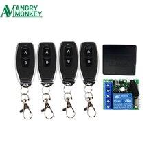 433 Mhz Universal Wireless Remote Schalter DC 12V 1CH relais Empfänger Modul und 4 stück RF Sender 433 Mhz fernbedienungen