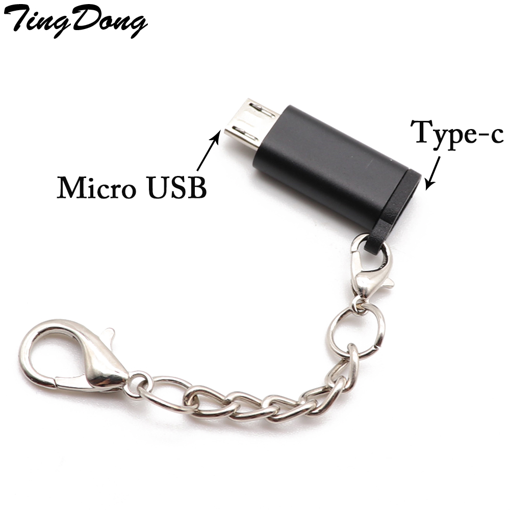 TingDong Micro USB Adapter Cable Micro USB Male To Type-C Female Converter USB OTG Data Adapter