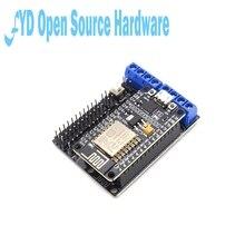 1 шт. L293D щит для платы двигателя Беспроводной Wi-Fi Esp8266 Esp-12E подходит для Node MCU Development Kit NodeMCU Rc игрушка дистанционное управление умный автомобил...