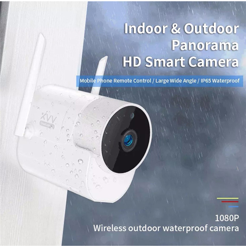 Xiaomi Xiaovv Outdoor Panoramic Camera Wireless WIFI 1080P 360 IP Cameras IP66 Waterproof Infrared Night Vision With Mijia APP
