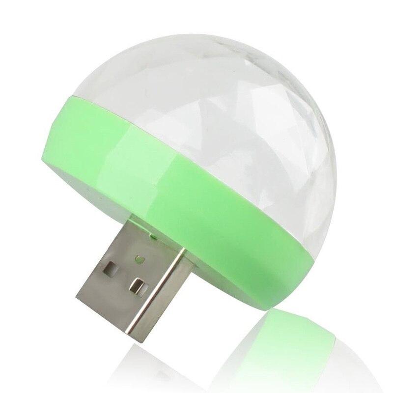 H4ee67f8bea884891bc982bb4569276d11 - Aimkeeg RGB Mini USB LED Party Lights Portable Sound Control Magic Ball 3W Mini Colorful DJ Magic Disco Stage Lights for Mobile