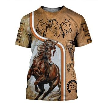 Tessffel Animal Love Racing Horse Funny Casual NewFashion Harajuku 3DPrint Summer Streetwear man's top T-shirts Short Sleeves s8 2