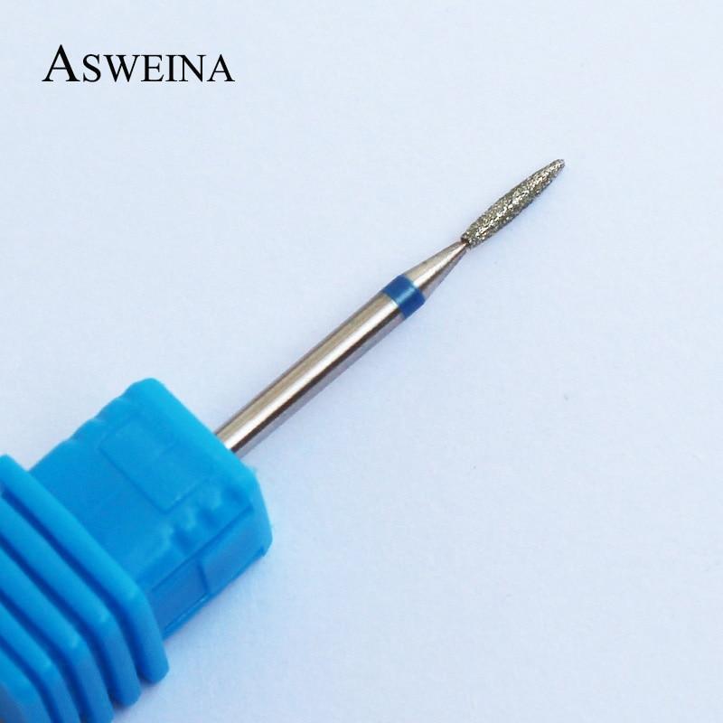 ASWEINA 1 PCS Medium Diamond Nail Drill Bit Rotary Burr Milling Cutter Manicure Pedicure Tools Electric Nail Drill Accessory