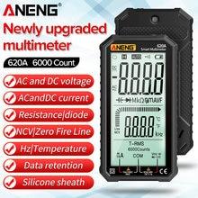 ANENG 620A cyfrowy inteligentny multimetr tranzystor tester 6000 liczy True RMS Auto elektryczne miernik pojemności odporność na temperaturę