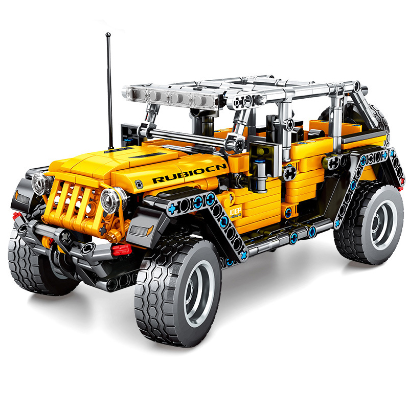 NEW Technic Car Block Toy The Jeep Wrangler SUV Vehicle Model Building Blocks Bricks Toys For Kids Christmas Gifts