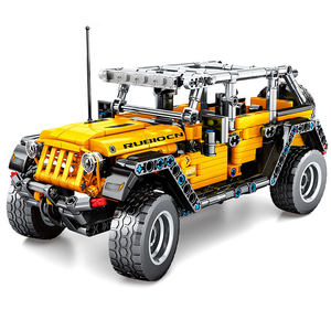 NEW Technic Car Block Toy The Jeep Wrangler SUV Vehicle Model Building Blocks Bricks Toys For Kids Christmas Gifts(China)