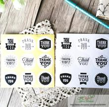 90pcs/lot lovely 9 pattern Kraft Paper Thank You Stationery label sticker Students DIY  Seal For handmade products