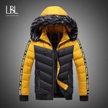 2020 kış ceket erkekler yeni rahat kalın sıcak su geçirmez kürk kapşonlu Parkas ceket erkekler sonbahar dış giyim ceket kıyafet Parkas ceketler erkekler