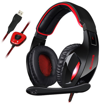 SADES SA-902 Stereo Gaming Headset 7.1 Virtual Surround Bass Gaming Earphone Headphone with Mic LED Light for Computer PC Gamer 6