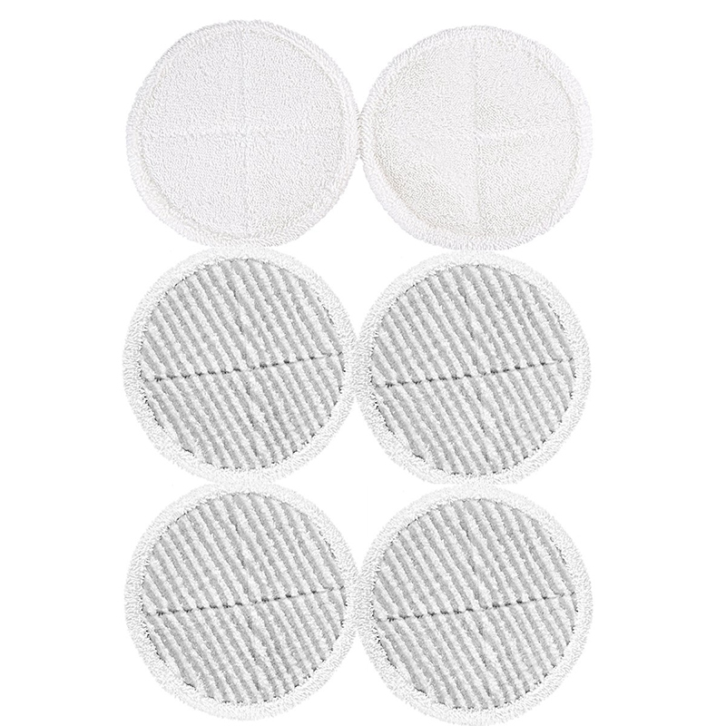 6 Pcs Mop Pads Replacement For Bissell 2124 2039A Spinwave Hard Floor Mop (2 Soft Contact Pads + 4 Scrubby Pads)|Mops|Home & Garden - title=