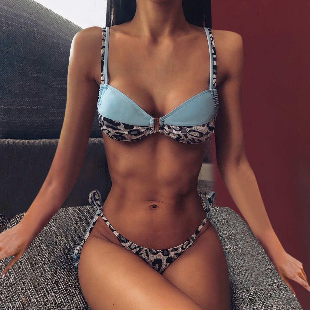 Hot Summer Sexy Women's Bathing Suits Unique Style Ladies Womens Push Up Bra Set Two Piece Ladies Soft Bathing Suits Best Sales