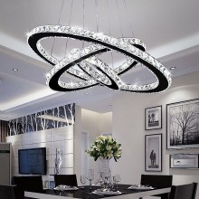 Nordic Led Chandelier Crystal Lustre Luxury Chandelier Living Room Decoration Luminaire Crystal Rings Hanging Lamp