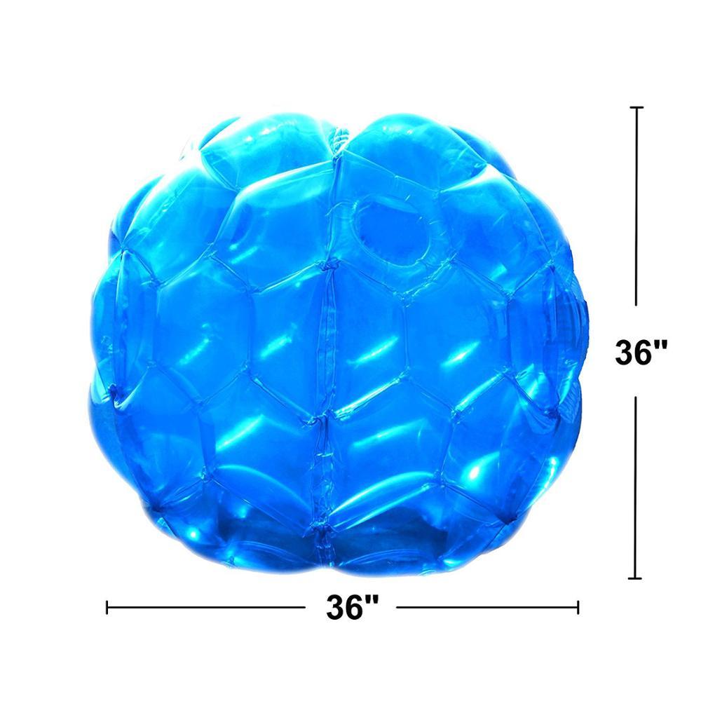 Boules de Zorb de butoir portatif gonflable de copain de 90cm résistantes boules de football durables de bulle de PVC Viny jeu extérieur pour des enfants jouent l'amusement - 2