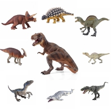 цены Jurassic dinosaur toy soft PVC action figure new hand-painted dinosaur model collection dinosaur children's toy gift