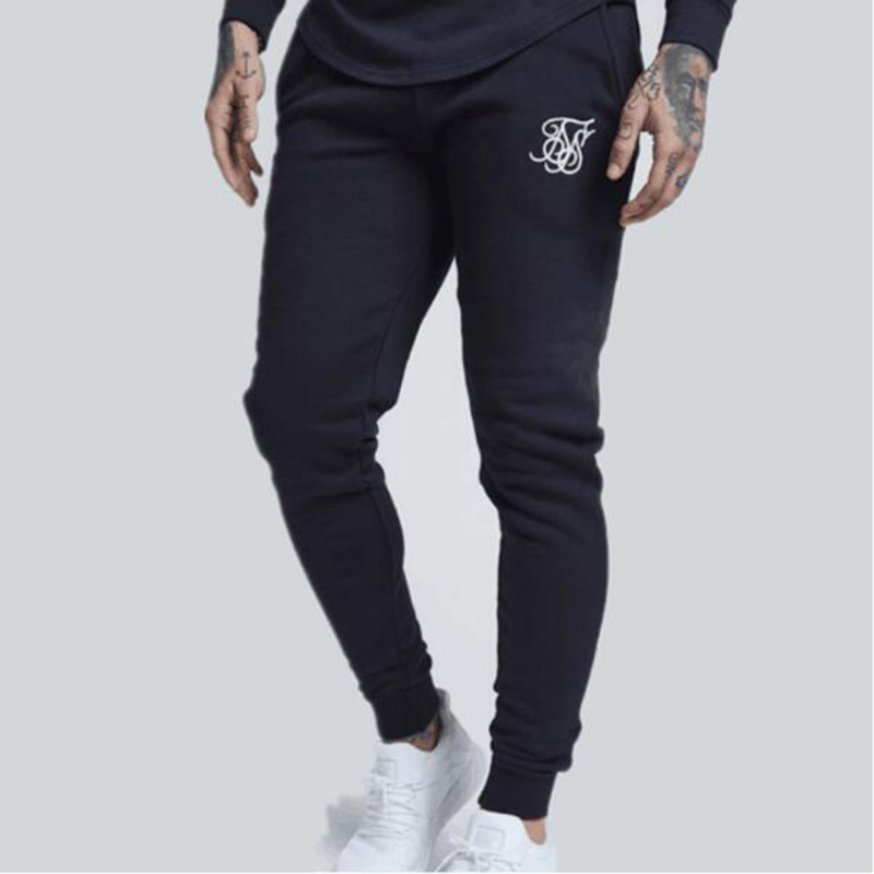 2019 Fashion Men Kanye West Sik Silk Printed Casual Sweatpants Gyms Fitness Men Outdoor Jogging Training Pants
