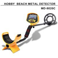 Factory price LCD Screen beach use hobby underground gold metal detector MD9020C Gold finder