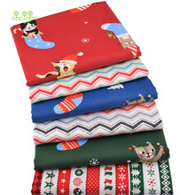 Chainho,Christmas Series,Printed Twill Cotton Fabric,Patchwork Cloth For DIY Sewing Quilting Baby&Children's Bedclothes Material