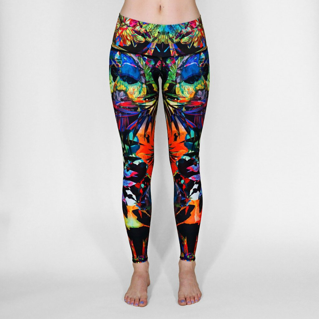 Tropical Adventure New Figure-flattering S Air-permeable Running Sweat-absorbing Women's Seven-point  Pants Leggings