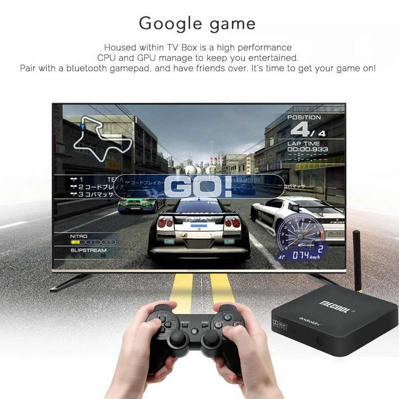 Kualitas Tinggi TV Top Box S905X Voice Edition TV Box Android 9.0 KM8 Jaringan Pemain Set Top Box Media Player -1 Set