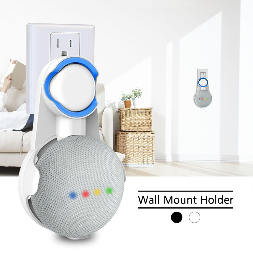 For Google Home Mini Wall Mount For Voice Assistant Accessories,Compact Hanger Stand Case Plug In Kitchen Bathroom Bedroom.