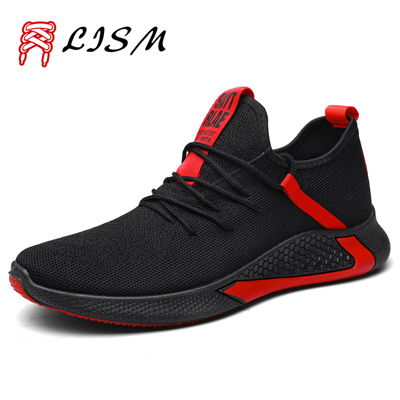 Net Shoe Men Shoes Sneakers Sport Indoor Flying Woven Sport Shoes For Male Scarpe Uomo Sportive Running Sneakers Men 2019 Autumn
