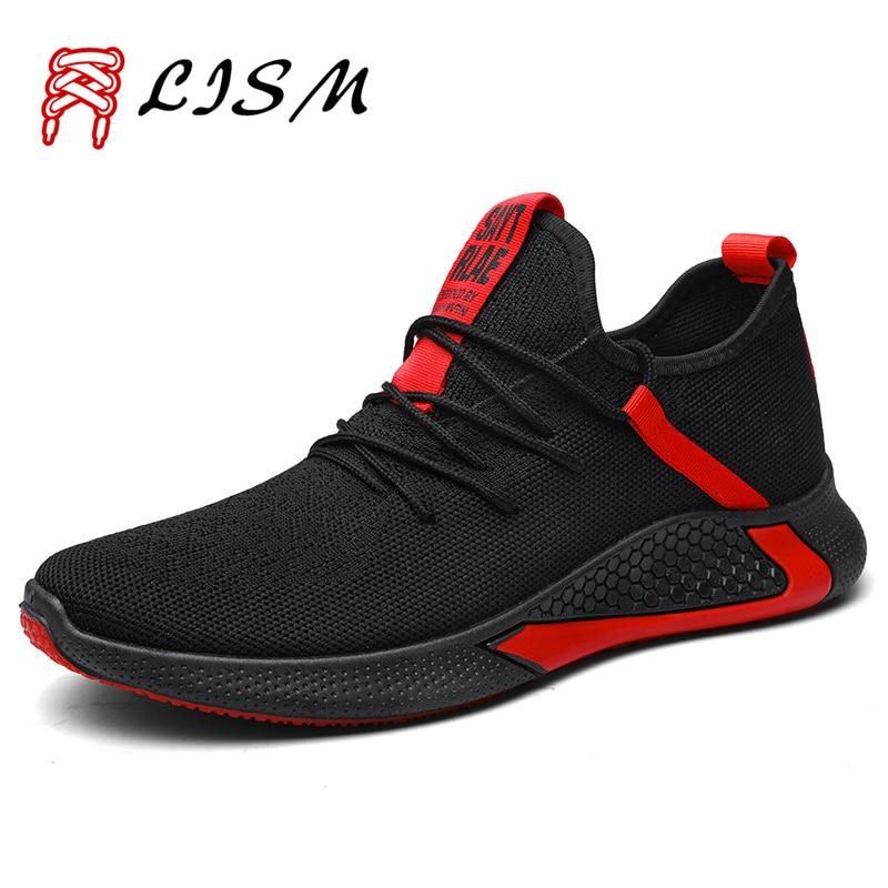 Net Shoe Men Shoes Sneakers Sport Indoor Flying Woven Sport Shoes For Male Scarpe Uomo Sportive Running Sneakers Men 2019 Autumn